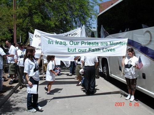 March in Phoenix, Arizona USA